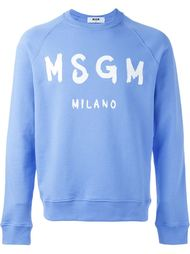 свитер с принтом логотипа MSGM