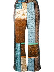 patchwork print trousers Ermanno Gallamini