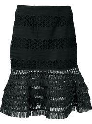 юбка с баской и бахромой Jonathan Simkhai