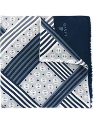 платок с геометрическим узором Lanvin Vintage
