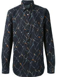 рубашка с абстрактным принтом Paul Smith London