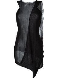 draped sleeveless knit top Masnada