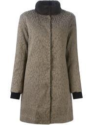 дутое пальто с воротником из меха норки  Moncler Gamme Rouge