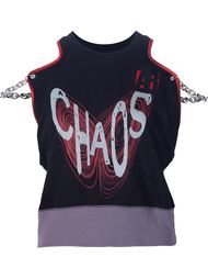 CHAOS print crop top Vivienne Westwood Anglomania