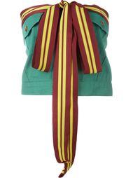 топ с контрастными завязками Jean Paul Gaultier Vintage