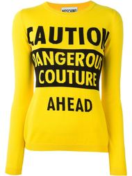caution dangerous couture jumper Moschino