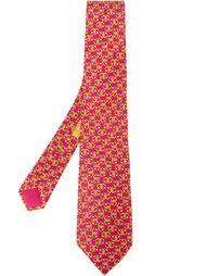 галстук с принтом подков Hermès Vintage