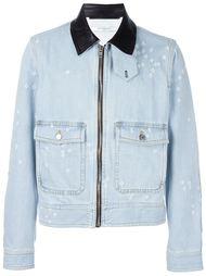 джинсовая куртка с кожаными деталями Givenchy