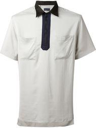 футболка-поло с контрастным воротником   Lanvin