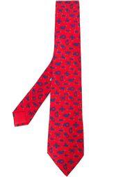 галстук с принтом узлов Hermès Vintage