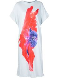 свободное платье-футболка с цветочным принтом Area Di Barbara Bologna