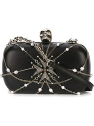 клатч-футляр на цепочке 'Skull' Alexander McQueen