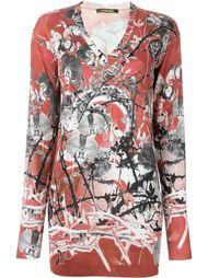 printed v-neck sweater Roberto Cavalli
