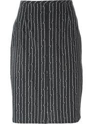 юбка-карандаш с принтом костей Jean Paul Gaultier Vintage