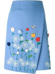юбка с цветочной вышивкой 'Berenice' Vivetta