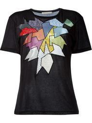 футболка с вышивкой  Christopher Kane