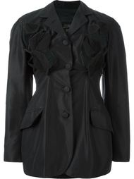 пиджак с аппликацией в виде листьев Jean Paul Gaultier Vintage