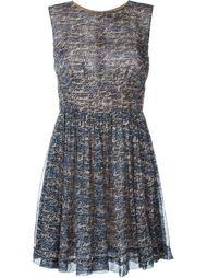 платье с графическим принтом Chanel Vintage