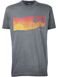 футболка с принтом заката Dsquared2