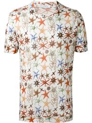 all-over starfish print T-shirt Versace Collection