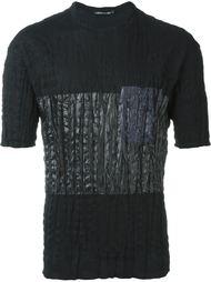 футболка с контрастной панелью Issey Miyake Men