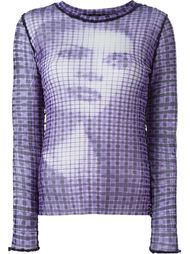 прозрачный топ с графическим принтом Jean Paul Gaultier Vintage