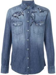 джинсовая рубашка с вышивкой птиц Dolce & Gabbana
