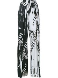 Printed Wide-Leg Trousers Ann Demeulemeester