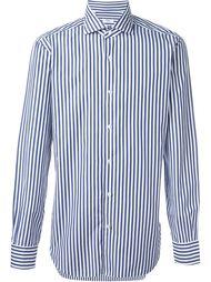 cuff detail pintriped button down shirt Barba