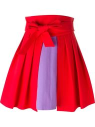 high waist colour block pleated full skirt Olympia Le-Tan