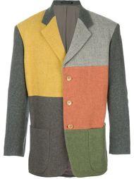 пиджак с лоскутным узором Yohji Yamamoto Vintage