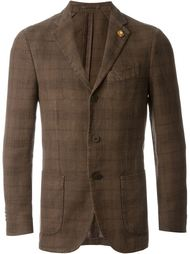 checked blazer Lardini