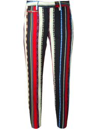 stripe print ankle length skinny trousers Dondup