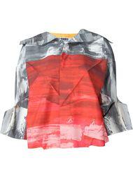 блузка с рукавами в стиле оригами Issey Miyake