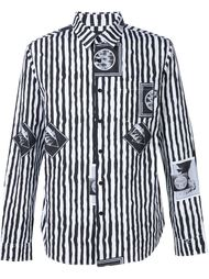 полосатая рубашка с фото-принтом Stussy