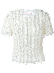ruffled knit top Comme Des Garçons Girl