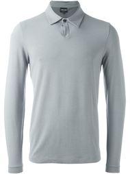 фактурная футболка-поло с длинными рукавами Giorgio Armani
