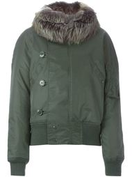 куртка-бомбер с отделкой из норкового меха Liska