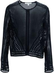 embroidered lace zip jacket Jonathan Simkhai