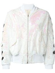 куртка-бомбер с пайетками Off-White