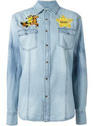 джинсовая рубашка с аппликацией  Forte Couture