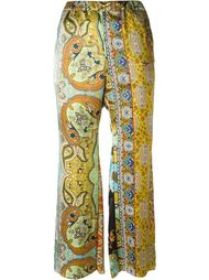 paisley print trousers Ermanno Gallamini