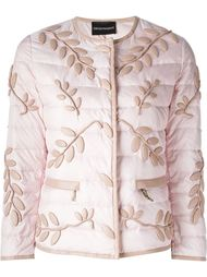 куртка с вышивкой Emporio Armani