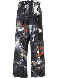 брюки с принтом  Yohji Yamamoto