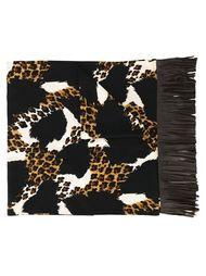 шарф с принтом животных Yves Saint Laurent Vintage