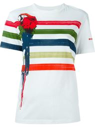 parrot stripe print T-shirt Sonia Rykiel