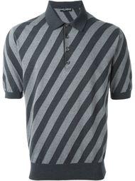 футболка-поло  в полоску  Dolce & Gabbana