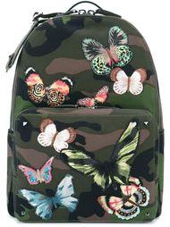рюкзак с вышитыми бабочками Valentino Garavani