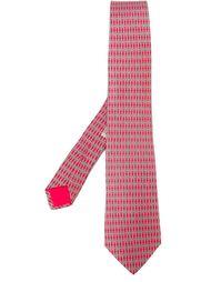 галстук с узором 'H' Hermès Vintage