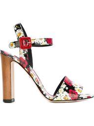 босоножки с цветочным принтом   Dolce & Gabbana